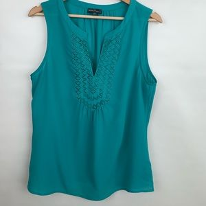 MARKET & SPRUCE | Sleeveless Green Blouse Large